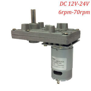 35kg Dc 12v 24v 13rpm Geared Motor Low Speed High Torque Gearbox Electric Motor