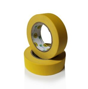 Instafinsh 1 1 2 Yellow Masking Tape Case Of 24 Rolls Automotive Marine