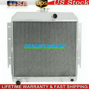 3row Aluminum Radiator For Dodge Dart Plymouth Valiant Barracuda L6 V8 1963 1966