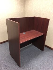 42 wx24 dx48 h Reception Workstation Cube Desk Byhon Office Furniture Inmahogany