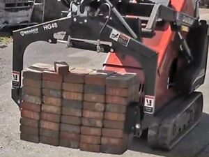 Multi Use Skid Steer Grapple great For Pavers rocks blocks Fits Mini Loaders