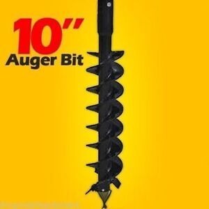 10 Skid Steer Auger Bit mcmillen Hdc for Difficult Digging 2 Hex Drive 6 Long