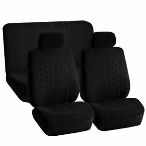 Sports Seat Covers Solid Black For Auto Car Suv Full Interior Top Quality