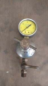 Vintage Craftsman Compressed Air Regulator With Amflo 0 60 Psi Gauge Steampunk