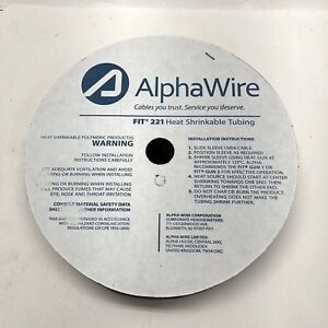 Alphawire Fit2213 8 Heat Shrink Tubing 3 8 Id Shrnk Tubn 50ft Spool Clear