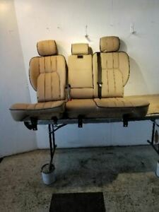 2003 2005 Range Rover 2nd Row Rear Seat Assembly Tan Beige Leather Heated Oem