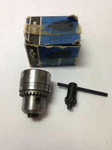 Rohm 1 32 1 2 Capacity Drill Chuck 1 2 20 Mount R3 12 Made In West Germany