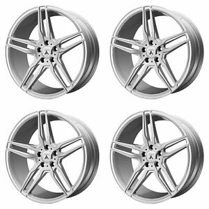4x Asanti 20x10 5 Abl 12 Orion Wheels Brushed Silver Carbon Fiber 5x115 20mm