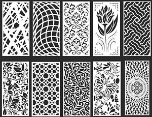 Dxf cdr Of Plasma Laser Router Cut cnc Best 10 Panel Items