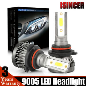 9005 Led Headlight 6000k White 1300w 285000lm Conversion Kit Low Beam High Power