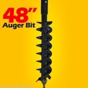 48 X 4 Skid Steer Auger Bit Mcmillen Hdc for Difficult Digging 2 Hex Drive