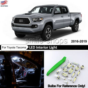 12x White Led Interior Lights Package Kit For 2016 2018 2019 Toyota Tacoma tool