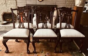 Beautiful Set Of 6 Ethan Allen 18th Century Mahogany Dining Room Side Chairs Ex