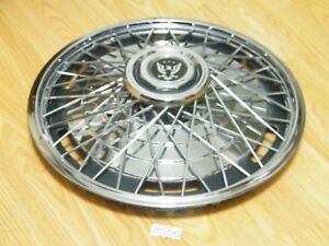 Nos 15 Del Met Wire Spoked Hub Cap Wheel Cover 70s Chevy Olds Buick Pontiac