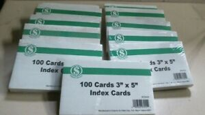 Smart Savers 972424 100 Cards 3 X 5 Index Cards Lot Of 11 Packs Free Ship