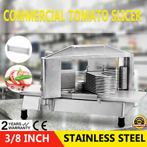 Commercial Fruit Tomato Slicer 3 8 cutting Machine Stainless Steel Sharp Blade