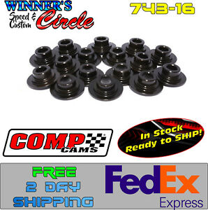 Comp Cams 743 16 Valve Spring Retainers Steel 7 11 32 W Free 2 Day Fedex