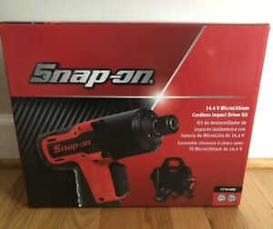 Snap On Ct761a 14 4 V 1 4 Drive Microlithium Cordless Impact Wrench Kit