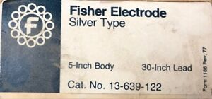 Fisher Electrode Silver Type 13 639 122 Chemistry Lab Glassware