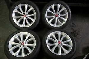 Set Of Four Jaguar Xf 2017 2018 18 Oem 245 45 18 Rims Wheels Tires 59948