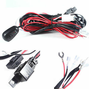 Relay Harness Wire Kit Led On Off Switch For Fog Lights Hid Work Lamp New