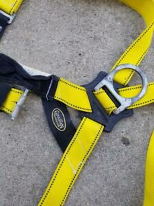 Guardian Fall Protection Strap Body Harness With Adjustable Lanyard