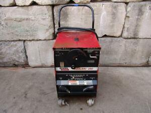 Lincoln Idealarc 250 Ac dc Welder Works Fine