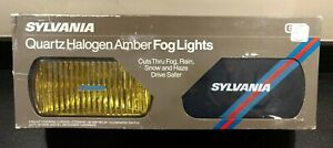 Vintage Sylvania Quartz Halogen Amber Fog Lights New In Box