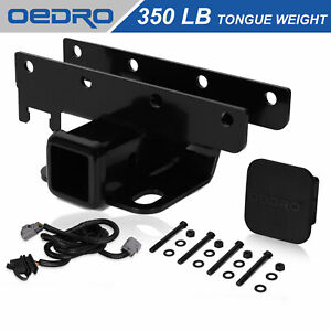 2 Black Steel Tow Trailer Hitch Kit Fit For 07 18 Jeep Wrangler Jk Unlimited