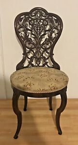 Meeks Or Belter Antique Victorian Side Chair Rosewood Laminate Petite
