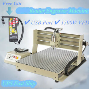 1 5kw 4 Axis Cnc6090 Router Engraver Usb 3d Carving Milling Machine handwheel Us