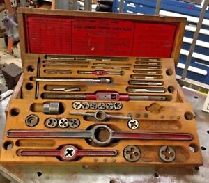 Gtd Greenfield Ok Jr Tap And Die Set partial Machinist Tool 3500 Screw Plate