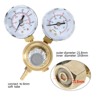 Argon Co2 Pressure Reducing Regulator Valve Flow Meter Control Gauge Welding