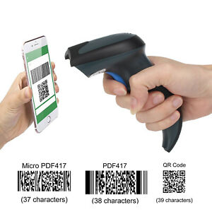 Portable 2 4ghz Wireless Usb2 0 Wired Barcode Reader Supermarket Library Retail
