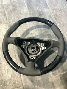 1999 2005 Porsche 996 911 Grey Leather Steering Wheel With Carbon Fiber