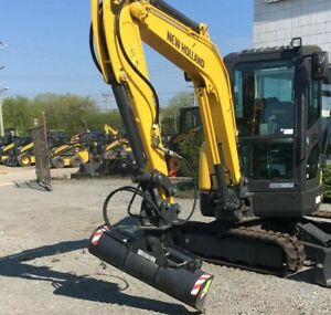 44 Hydraulic Tilt Ditching Grading Bucket For The New Holland E37c Mini Ex