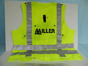 Miller High Visibility Vest Over Your Safety Harness Compatable Lg hivizvestl