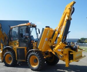 Heavy Duty Flail Boom Mower For Tractor Backhoe Wheel Loader Made In Italy