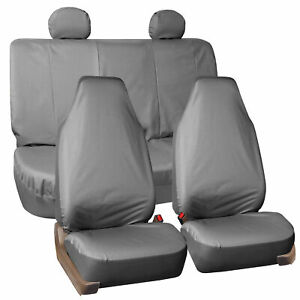 Oxford Car Seat Cover Set Gray Waterproof 4 Headrests