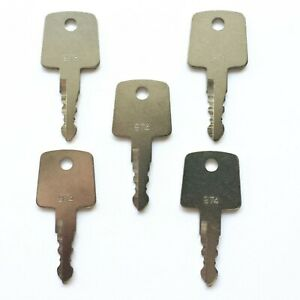 5 Sakai Roller Ignition Keys Heavy Equipment Asphalt Roller Key 974