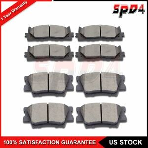 Front Rear Ceramic Pads For 2007 2016 Toyota Camry 4pcs Front 4pcs Rear