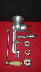 Vtg Universal No 2 Food Meat Chopper Hand Crank Grinder Off Grid Kitchen Usa