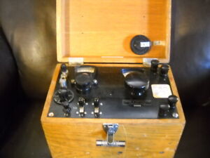 Vintage Leeds And Northrup Potentiometer In Wood Case