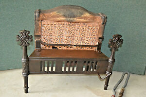 Antique Armstrong Cast Iron Gas Heater Stove Fireplace Insert Art Deco