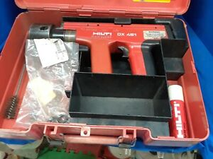 Hilti Dx451 Powder Actuated Fastening Tool W Case And Extras used Free Ship