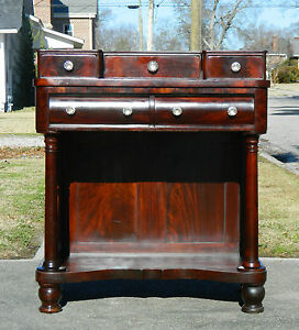 American Empire Mahgoany Dressing Table Vanity Circa1840