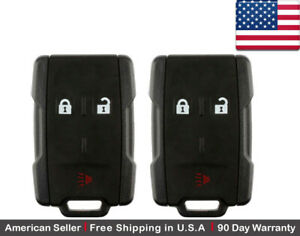 2 New Replacement Black Keyless Key Fob Remote For Chevy Gmc M3n32337100