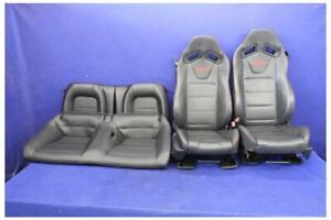 2015 2016 2017 Ford Mustang Gt Oem Recaro Coupe Leather Seats Red Stitch Front