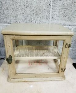 Vintage Store Display Case Wood Glass Industerial Commercial Counter Top