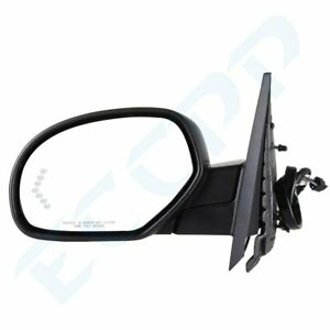 Power Fold Heat Puddle Light Signal Memory Black Lh Mirror For 2007 13 Chevy Gmc